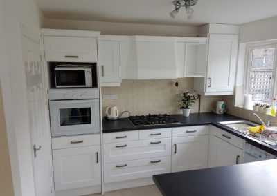 kitchen spray painting gillingham