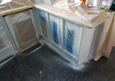 kitchen spray painting gillingham 7